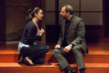 Joanna Liao (Setsuko Hearn) and Joe Guzmán (Darius Wheeler). Photo by Mark Garvin.