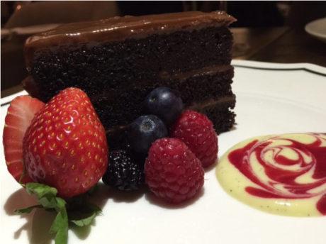 Ashlar's Chocolate Cake with berries.
