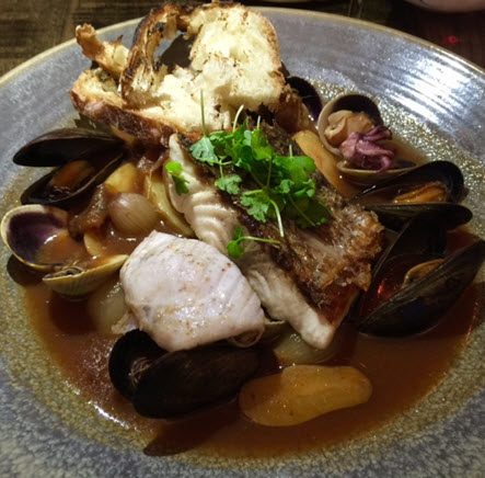 Maryland Rockfish bouillabaisse.
