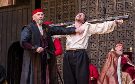 Jonathan Pryce and Dominic Mafham. Photo courtesy of Globe Theatre.