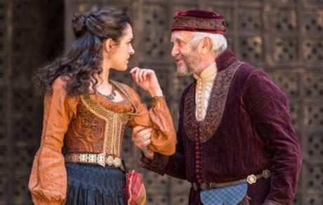 Jonathan Pryce and Phoebe Pryce. Photo courtesy of Globe Theatre.