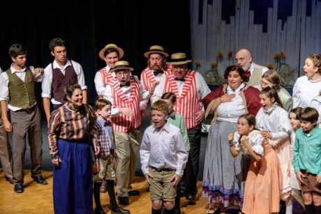Joel Yetzbacher (Winthrop) and cast members. Photo by Tim and Susan Gibson.