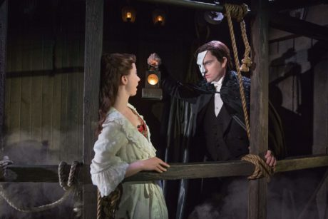 Katie Travis (Christine))and Chris Mann (The Phantom). Photo by Matthew Murphy.