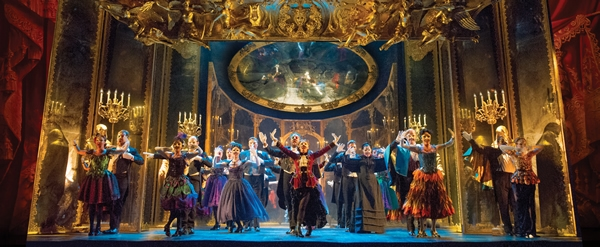 THE PHANTOM OF THE OPERA 3 - The Company performs Masquerade. Photo by Alastair Muir.