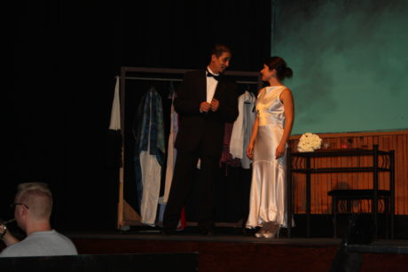 Nick (Jose Bernard) asks Fanny (Candice Castro) out for a night on the town. Photo by John Muller.