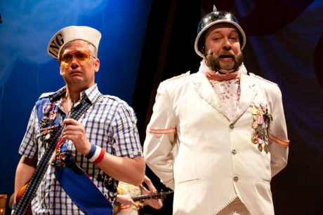 Robert McLean (Pirate King) and Matt Kahler (Major General) . Photo by Evgenia Eliseeva, courtesy of American Repertory Theatre.