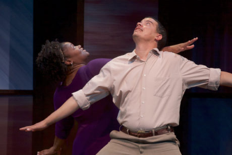 Dael Orlandersmith (Alma) and Howard W. Overshown (Eugene). Photo by Michael DuBois.