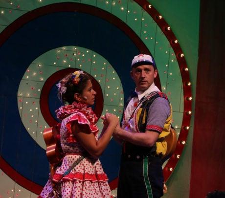 Dana Omar (Yum-Yum) and Shawn Pfautsch (Andy-Poo). Photo by Anna Danisha Crosby.