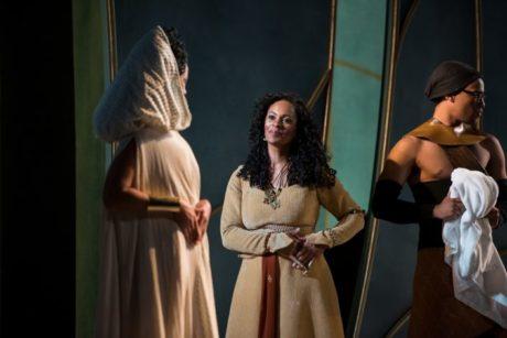 Margaret Ivey, Nafeesa Monroe, and Damian Thompson. Photo by Seth Freeman.