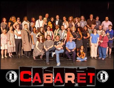Cast, crew, and band and 'Cabaret.'