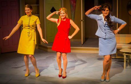 Gretchen (Allison Bloechl) , Gabriella (Hanna Gaffney), and Gloria (Meredith Beck). Photo by Ashley Labonde.
