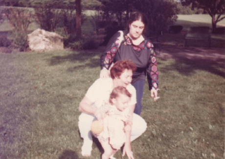 Leah Harris, her grandmother, and mother, 1977.