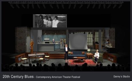 "Rendering of set for ""Twentieth Century BLues. Courtesy of Set Designer David M. Barber."