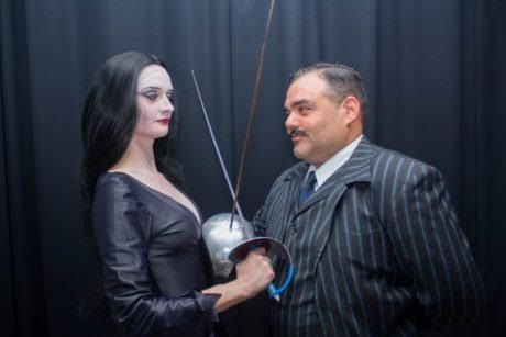 Jennifer Zellers (with Joe Carlucci) in 'The Addams Family.' Photo by Chris Miller.