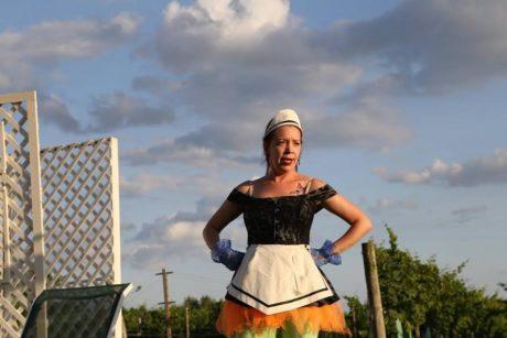 Amanda Schoonover in Tartuffe. Photo by Andy Hazeltine.