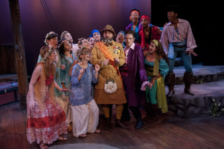 Larry Lees (Major-General Stanley) and the cast of 'The Pirates of Penzance.' Photo by John Flak.