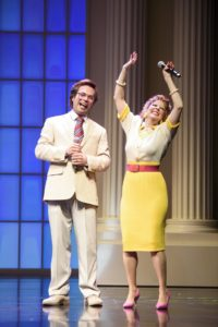 Chaz Pofahl (Jim Bakker) and Kirsten Wyatt (Tammy Faye Bakker). Photo by Greg Mooney.