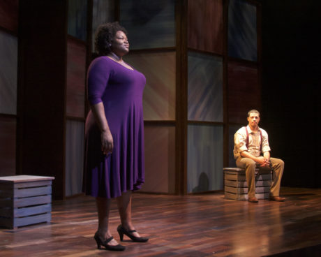 Stori Ayers (Alma) and Justus Hammond (Eugene). Photo by Michael DuBois.