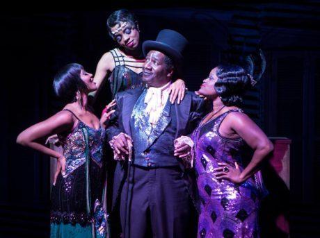 Cleavant Derricks (Chimney Man) with Kara-Tameika Watkins, Eben K. Logan, and Nova Y. Payton. Photo by Christopher Mueller.