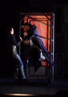 Jered Hobbs (Hamlet) and Ignacio García-Bustelo (Ghost of Hamlet). Photo by Paige A. Hathaway.