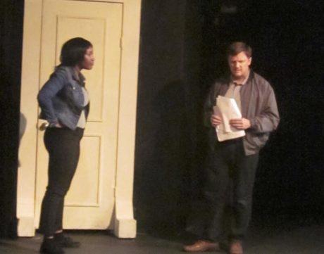 Stephanie Pounds and John Van Eck in 'Virtual Reality.' Photo by David Jones.