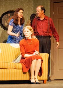L to R: Mary Rogers (Bella), Jeanne Louise (Gert), and Brian Binney (Louie). Photo by Malia Murray.