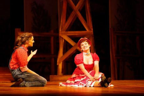 Laurey (Jackie Raye). and Ado Annie (Kylie Blair Arnold). Photo by Suzanne Carr-Rossi.