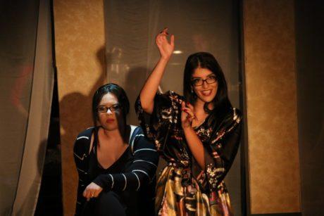 Destani Gross (Luisa Contini) and Shabnam Salek (Carla). Photo by Doga Tasdemir.