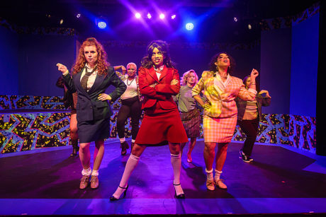 L to R: The three Heathers: Megan Bunn, Tiara Whaley, and Geocel Batista. Photo by Bruce F. Press Photography.