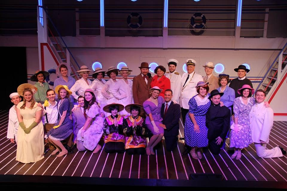The cast of 'Anything Goes.' Photo by Adam Blackstock.