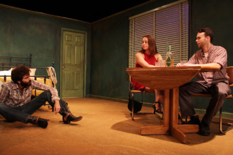 Matthew Seely (Eddie), Olivia Nice (May), and Connor McElwee .(Martin). Photo by Ogemdi Ude.