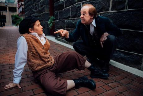 Ella Levri (Oliver!) and Mike Baker (Fagin). Photo courtesy of Sterling Playmakers.