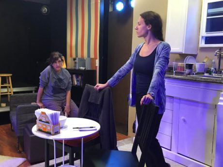 Jessie (Jennifer Berry George) shares painful memories and regrets with her mother Thelma (Melissa B. Robinson) in the kitchen of their country home. Photo courtesy of The Highwood Theatre.