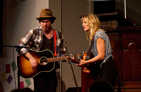 John Gallagher, Jr. and Anaïs Mitchell. Photo by Cliff Garber.