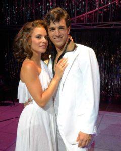 Alexandra Matteo (Stephanie Mangano) and Jacob Tischler (Tony Manero). Photo courtesy of Westchester Broadway Theatre