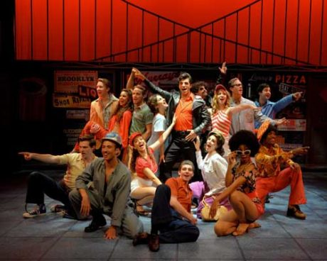 The Company of 'Saturday Night Fever: The Musical.' Photo courtesy of Westchester