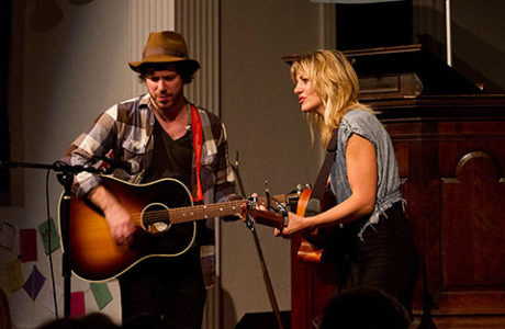 John Gallagher Jr. and Anaïs Mitchell. Photo by Cliff Garber.