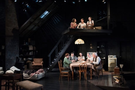 The cast of Olney Theatre Center's 'The Diary of Anne Frank.' Photo by Stan Barouh.