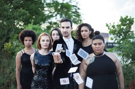 The Chorus with María and The Magician. Photo by Rosie Simmons.