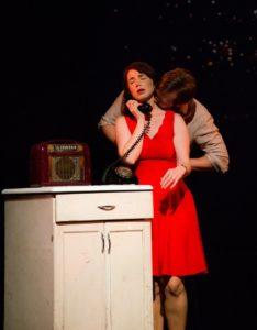 Elisa Matthews (Francesca) and Derek Basthemer (Robert). Photo by Maura McConnell.