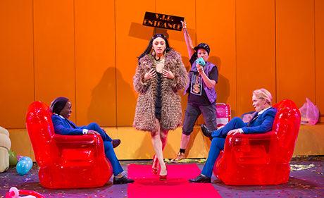 Felicia Curry, Natascia Diaz, Kate Rigg, and Beth Hylton. Photo courtesy of Woolly Mammoth Theatre Company.