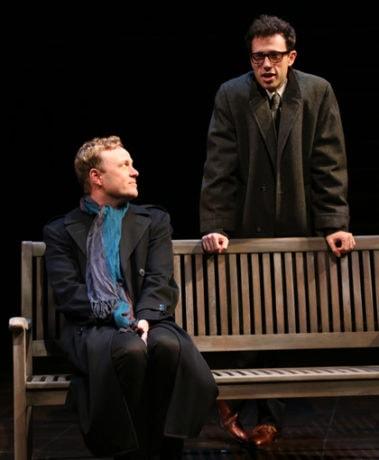Tom Story (Prior Walter) and Jonathan Bock (Louis ). Photo by Danisha Crosby.