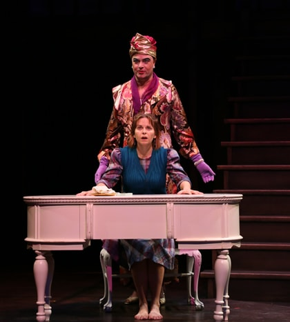 Tom Story (Prior Walter) and Kimberly Gilbert (Harper Pitt). Photo by Danisha Crosby.