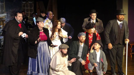 The cast of Landless Theatre Company's 'The Mystery of Edwin Drood': The Symphonic/Metal Version': John Jasper (Andrew Lloyd Baughman), Princess Puffer (Ally Jenkins), Neville Landless (Andre Brown), Rosa Bud (Shaina Kuhn), Karissa Swanigan (Dick Datchery), Rev. Crisparkle (Jason Hoffman), Durdles (Matt Baughman), Helena Landless (Mary Patton), Bazzard (Eric Jones), Deputy (Dylan Ngo), and Chairman Cartwright (Malcolm Lee). Photo courtesy of Landless Theatre Company.