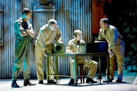 Sean Thompson, Dan Olmstead, Owen Pelesh, and Jeffrey Coon. Photo by Mark Garvin.