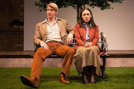 Christian Pedersen and Laura C. Harris in Cloud 9 at Studio Theatre. Photo by Amy Horan.