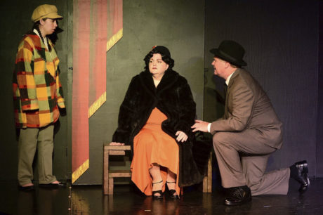 Shannen Banzhoff (Louise), Karen Heyser-Paone (Rose), and Steve Steele (Herbie) listens. Photo by Ric Dugan/