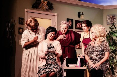 Brenda Parker (Clairee), Kelsey Yudice (Shelby), Patricia Spencer Smith (Ouiser), Susan Smythe (Annelle), and Carla Crawford (Truvy). Photo by Misty Smith.