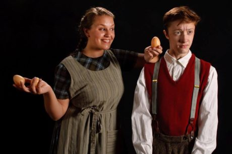 Natasha Joyce (Helen) and Andrew Sharpe (Bartley). Photo courtesy of Colonial Players.