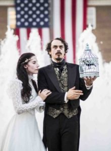 Virginia Clemm Poe (Bette Casatt) and Edgar Allan Poe (Ian Blackwell Rogers). Photo by John Nelson.